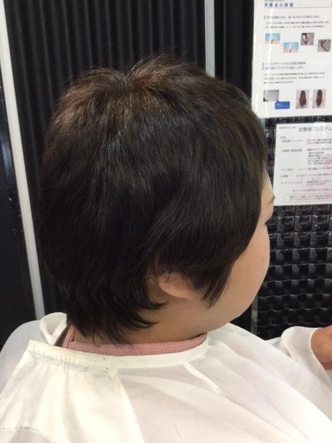 抗がん剤治療後の自毛にカットカラー、シールエクステでウィッグ卒業、自毛デビュー!