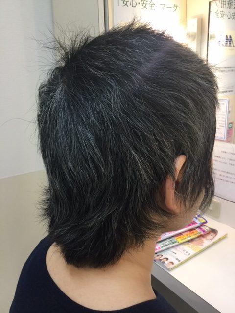 抗がん剤治療後の自毛をカットカラーで自毛デビュー!