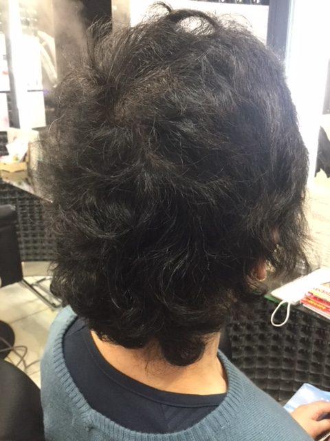 抗がん剤治療後のくせ毛にストレートパーマ&カラーで自毛デビュー!