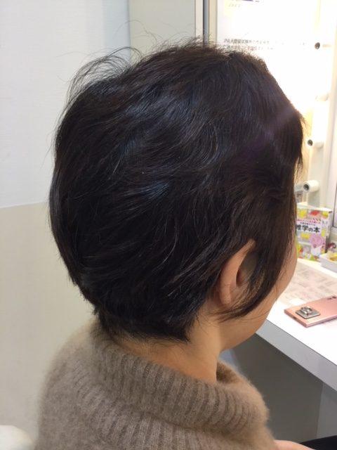 抗がん剤治療後の自毛をカット、ストレートパーマ、カラーで地毛デビュー!