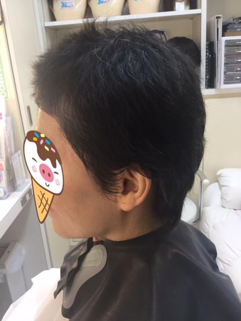 抗がん剤治療後の自毛のカットカラー!