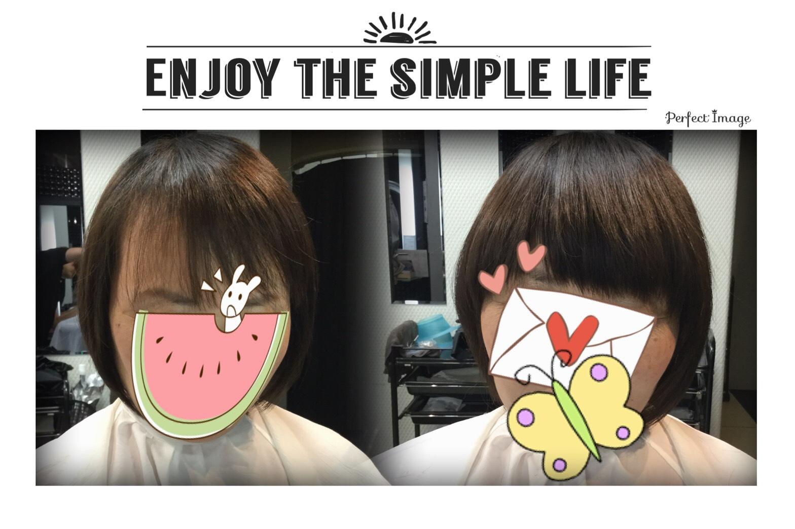 抗がん剤治療後。。増えない伸びない前髪をシールエクステでカバー♪( ´▽`)