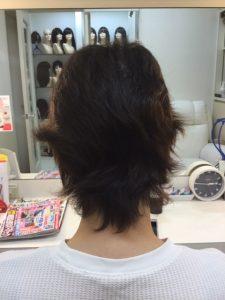 抗がん剤治療後の自毛にカット、カラー、そしてシールエクステをつけてみました。