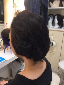 抗がん剤治療後の自毛にカット、ストレートパーマ、カラーでいい感じ!