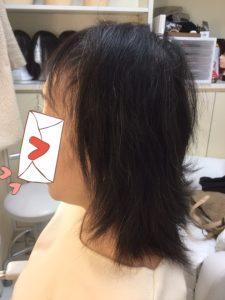 抗がん剤治療後の自毛に縮毛矯正をかけてみました。