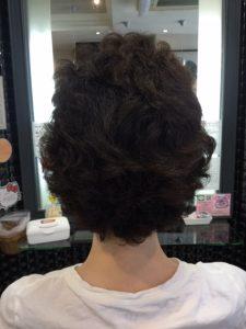 抗がん剤治療後の縮毛矯正とカラー。