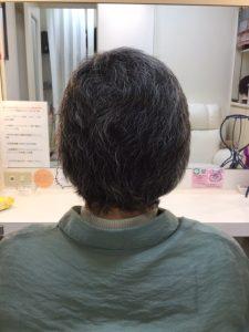 抗がん剤治療後の地毛にカットカラーをしてみました。
