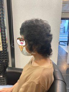 抗がん剤治療後の地毛のストレートパーマ&カットカラー。