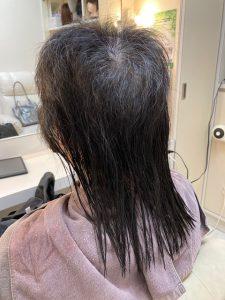 トップが極端に短い方の髪の毛のお手入れ。パーマとトップピースで劇的変身!