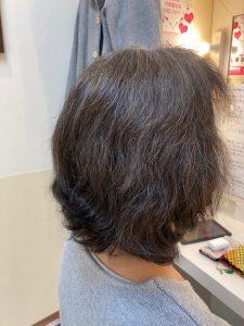 抗がん剤治療後の縮毛矯正とカットカラー。